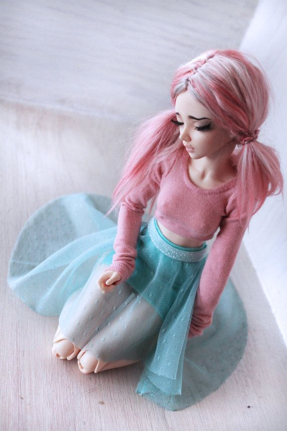 Doll MSD Minifee BJD clothes Multi color Mint by MonstroDesigns