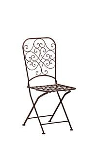 FEMININE SCROLL METAL CHAIR