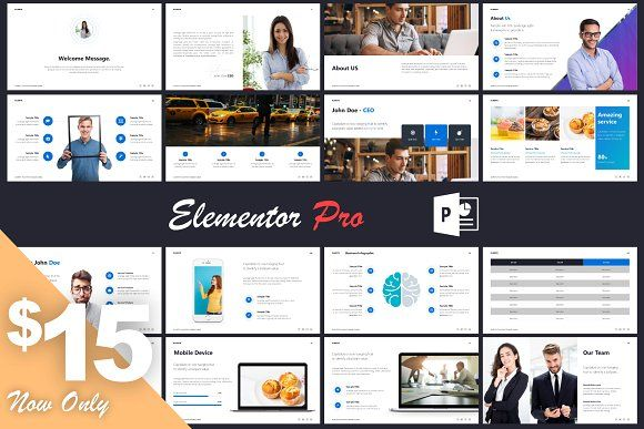 Elementor PowerPoint Template by Mr.Visual on @creativemarket