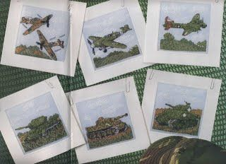 World War Two Vehicles Cross Stitch Card Shop Issue 53 March/April 2007 Saved