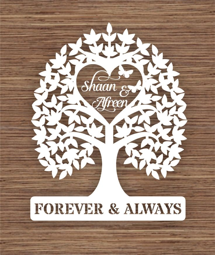 Introductory price* Personalised names Wedding Tree gift PDF SVG Instant Download Digital Papercut Template by ArtyCuts on Etsy