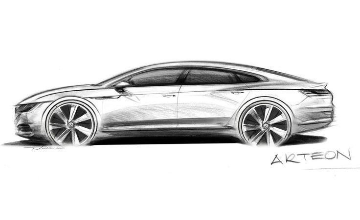 Volkswagen Arteon sketch by senior exterior designer Tobias Suhlmann