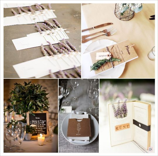 decoration mariage provence carte menu lavande tableau ardoise livre pochette kraft mariage. Black Bedroom Furniture Sets. Home Design Ideas