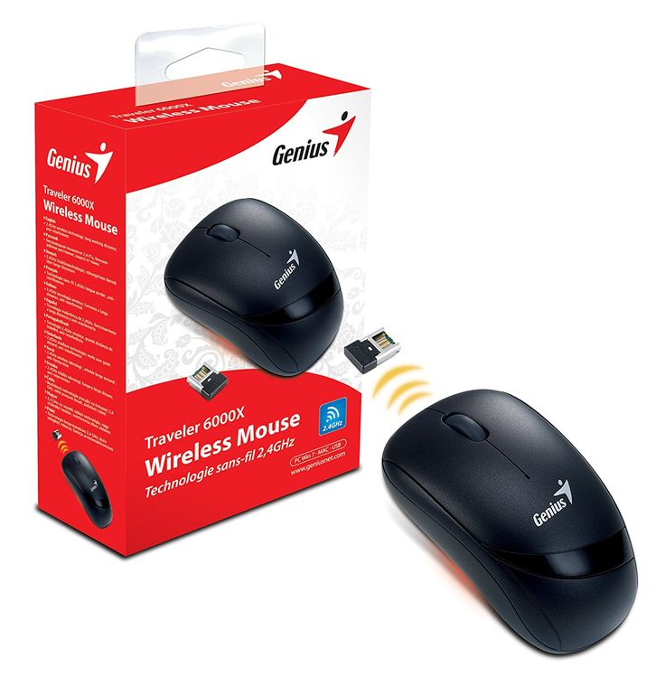 Amazon.com: Genius 2.4GHz Wireless Optical Mouse (TRAVELER 6000X): Computers & Accessories
