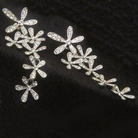 Kolczyki Crystal Long Snowflake