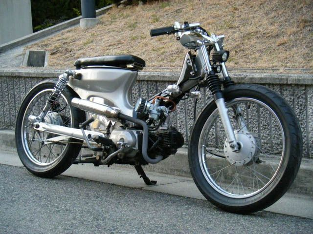 Yo!  I'm taking delivery tomorrow of an '84 Honda cub 90 - in GOLD!  Ive been concocting plans for this, and will obviously have pics tomorrow morning for you. Just wondered if y'all have any