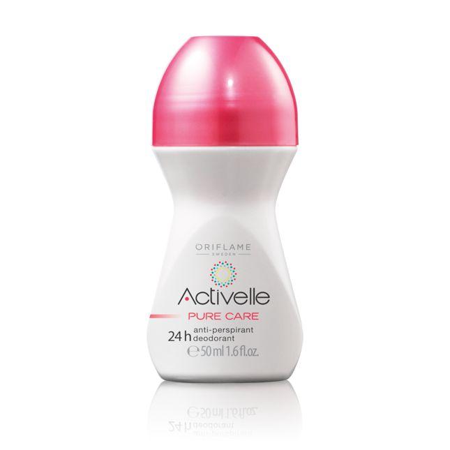 Desodorante Roll-On Antitranspirante Activelle Pure Care #oriflame