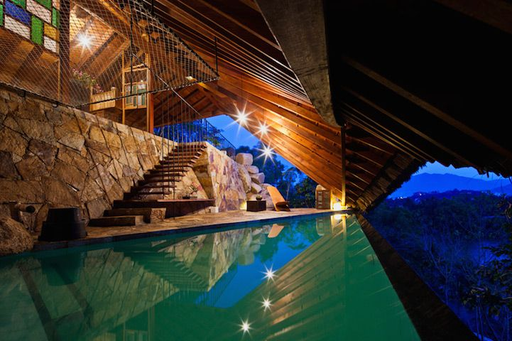 'The Tent' by a21studio. Vietnamese-based architects a21studio have put a new twist on the meaning of a tent. They created an airy, gabled hideaway and spa that sits above a hot spring and mineral resort near Nha Trang City.