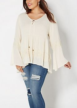 Junior Plus Size Dressy Tops | Shirts & Blouses | rue21