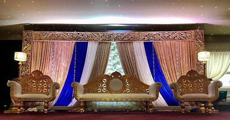 ****Our new wedding stage*** #bespoke #stage #exclusive #floral #theme #wedding #season  #decor #design #velvet #drapes #gold #colours  @regal_stages call us on 07522748918 or Message us through instagram/Facebook. http://butimag.com/ipost/1556493268304630992/?code=BWZxmGAlZTQ