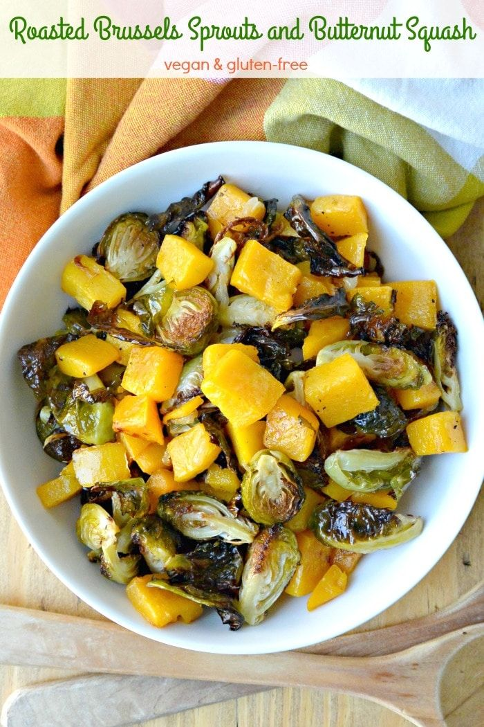 Roasted Brussels Sprouts And Butternut Squash Recipe Vegan