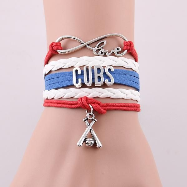 Chicago Cubs Infinity Love Bracelet   Celebrate a cubs win for the first time in 71 years with the purchase of one of these love bracelets. Item Type: Bracel