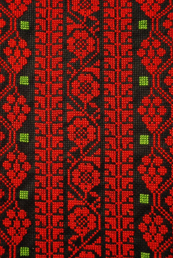 Wall hanging with rich Palestinian embroidery by AfnanAlGalil