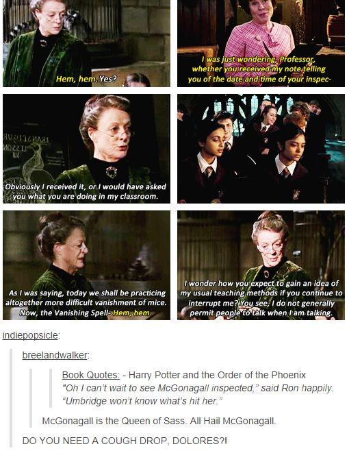 Minerva McGonagall queen of sass