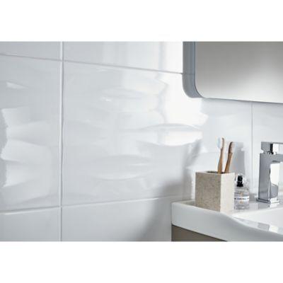 Carrelage Mur Decor Vague Blanc 30 X 60 Cm Perouso Vendu Au