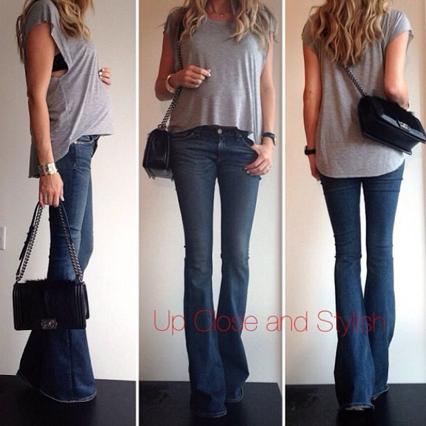 Flared jeans pregnant style