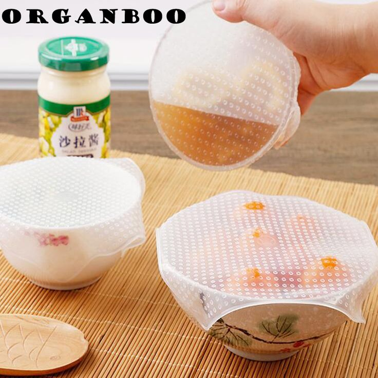 ORGANBOO 4PCS/Set stretch and fresh food cover silicone wrap sealed universal bowl cover keeping fresh kitchen accessories-in Food Covers from Home & Garden on Aliexpress.com   Alibaba Group
