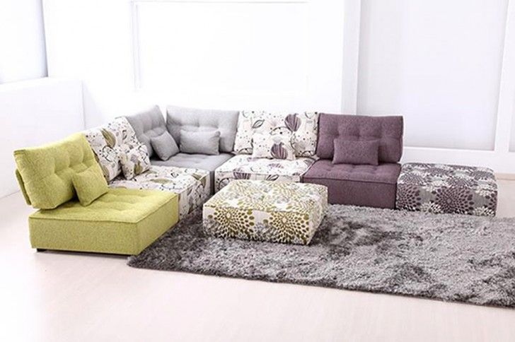 Furniture. At Last, Learn the Truth of How to Arrange a Better Modular Living Room Furniture. Captivating Modular Living Room Furniture Showcasing L Shape Sectional Sofa With Small Throw Pillows And Ottoman Also Smoothly Fur Rug Ideas
