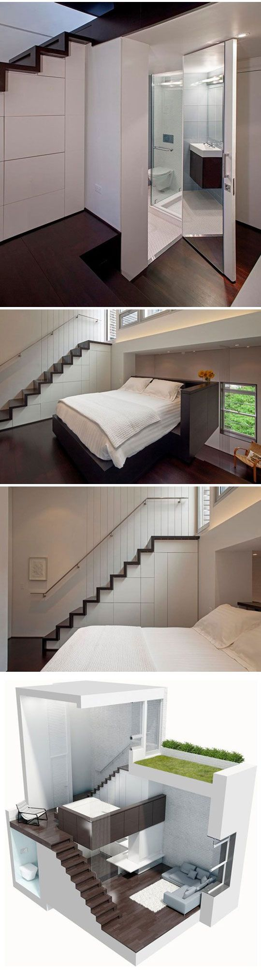 Great use of space and minimalist approach. This would be a fantastic guest house