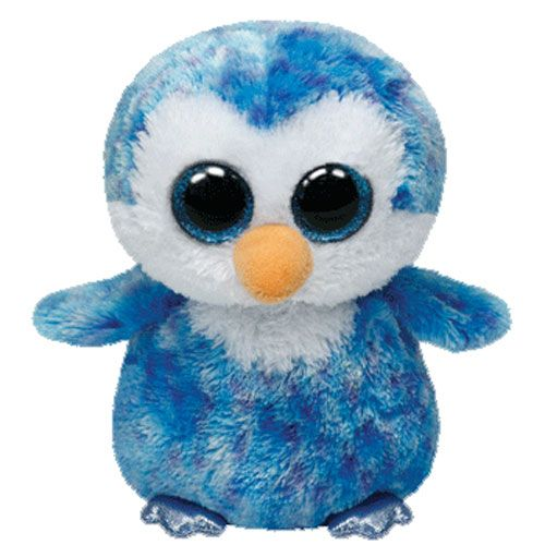TY Beanie Boos - ICE CUBE the Blue Penguin (Glitter Eyes) (Regular Size - 6 inch)