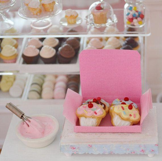 Sweet Petite Miniature Play Scale Cupcake by SweetPetiteShoppe, $15.00