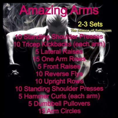 Free Weight Arm workout