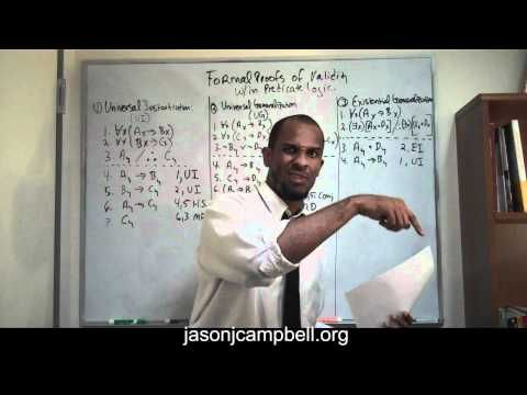 6. Logic Lecture: Predicate Logic: Formal Proofs of Validity: Existential Generalization - YouTube