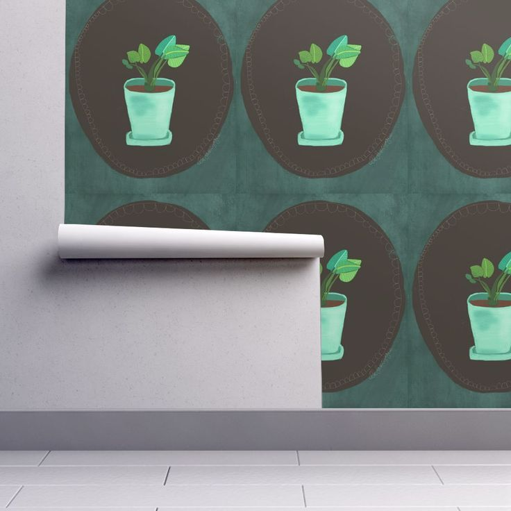 Isobar Durable Wallpaper featuring IMG_3593 by ali_lamontagne_illustration_ | Roostery Home Decor