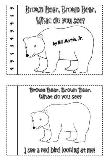 Brown Bear Minibook Adapting To Use In My Classes When Brown Book Coloring Pages