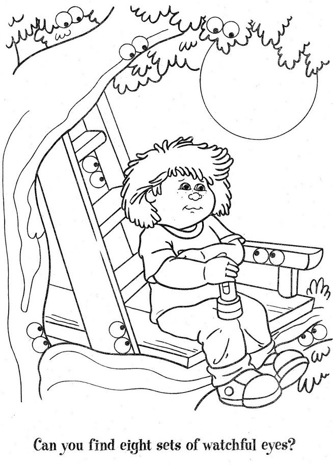 12 best Cabbage Patch Kids Coloring Pages images on
