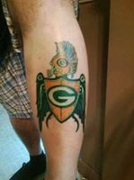 joey pack man pineau green bay packers packtattstic pinterest packers. Black Bedroom Furniture Sets. Home Design Ideas
