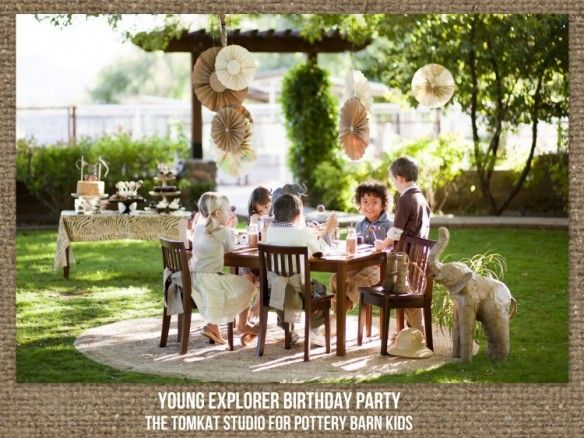 Young Explorer Party for Pottery Barn Kids!