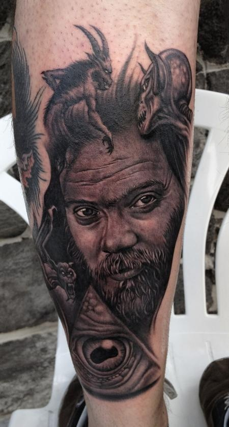 Best Portrait Tattoo Artist Bob Tyrrell - Roky Erickson    If you're going to do it, you should do it right.