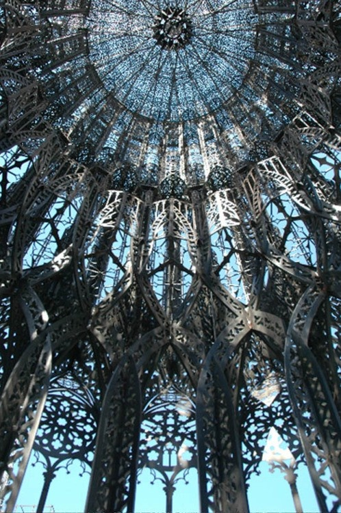 wow: Ceilings Details, Beautiful Places, Chapel Work, Blue Ceilings, Beautiful Ceilings, Wim Delvoy, Sweet Dreams, Musee Rodin, Stained Glasses
