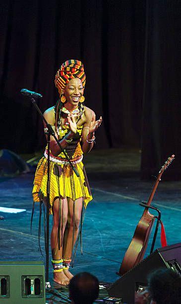 Malian vocalist Fatoumata Diawara performs at Pace University's Michael Schimmel Center for the Arts New York New York September 28 2012