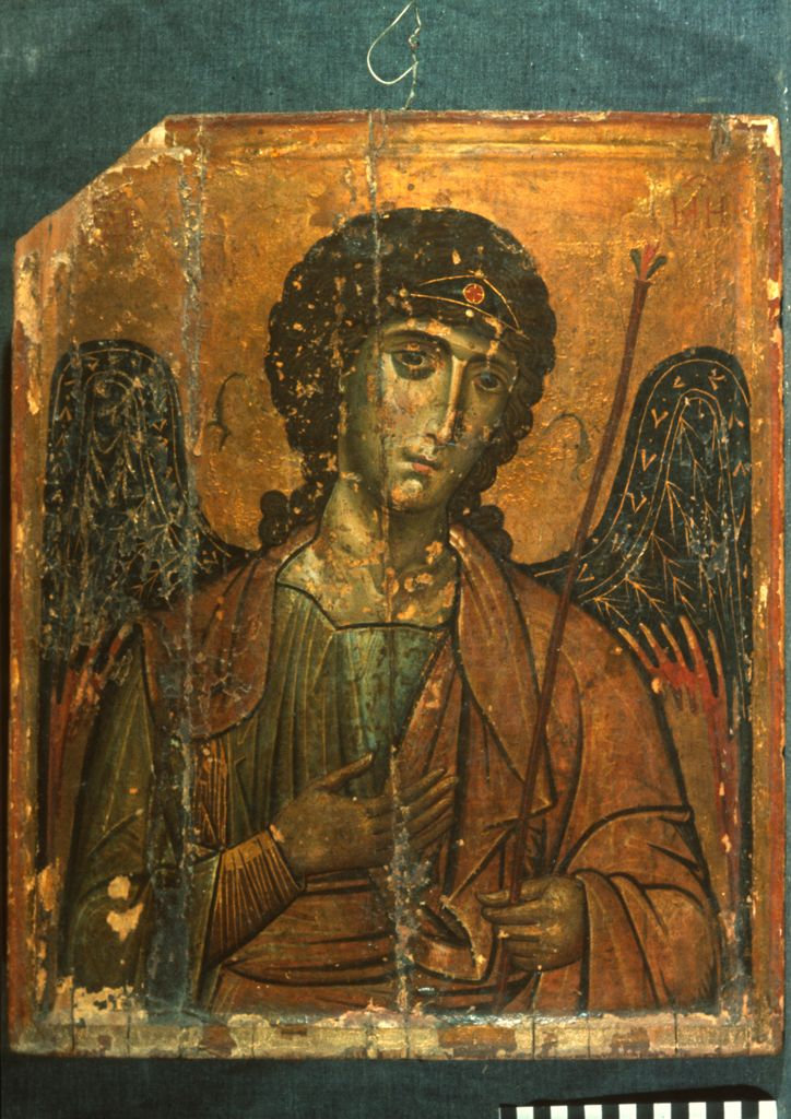 Saint Michael, Date:Unknown, tempera on panel; The Sinai Icon Collection, Princeton University
