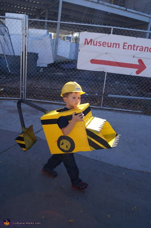 Cat backhoe/front loader costume. maybe a forklift???