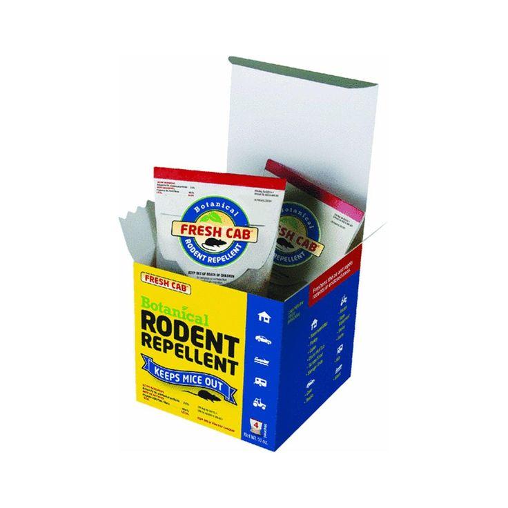 Fresh Cab Rodent Repellent 4 Pouch Box Net Wt 10 Ounce