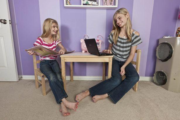 Identical twins Sierra and Sienna Bernal