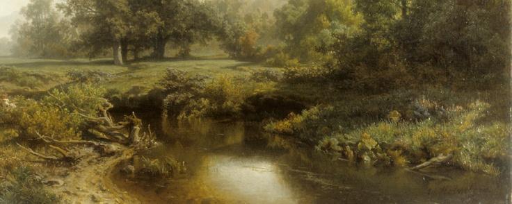 Werner Holmberg: Autumn Morning, 1856 (detail).