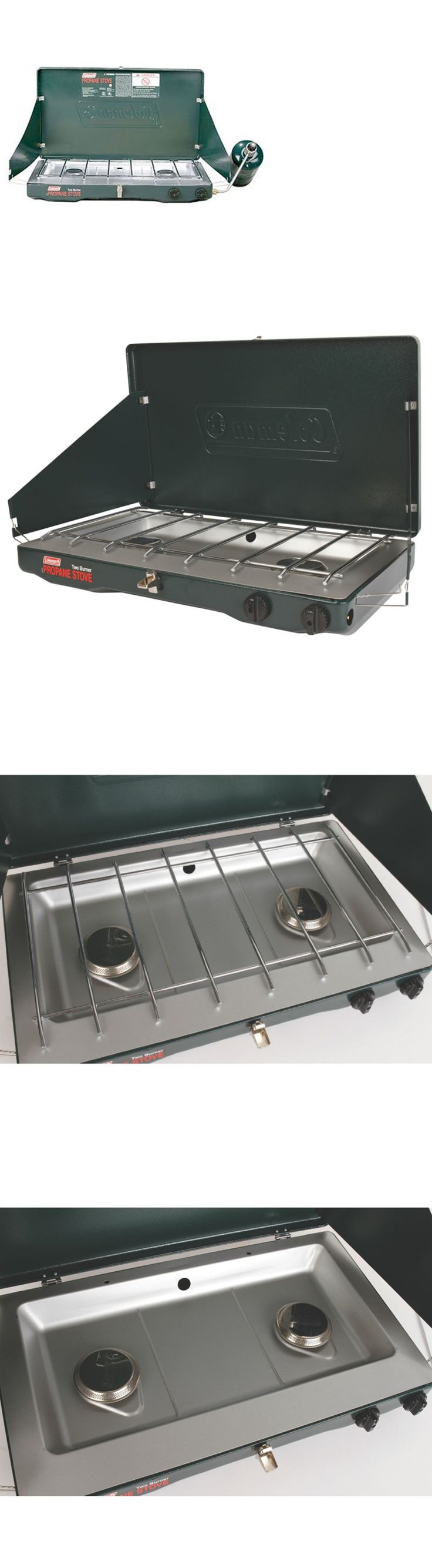 Camping Stoves 181386: 2-Burner Propane Stove Coleman Matchlight 10000 Btu Adjustable Camping Cooking -> BUY IT NOW ONLY: $56.99 on eBay!