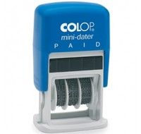 Colop Mini-Dater Paid Stamp S160L2 - Word Stamp