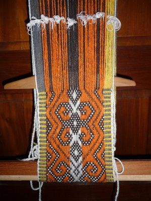 Typical Mapuche weaving, Chile. http://www.raices.co.uk