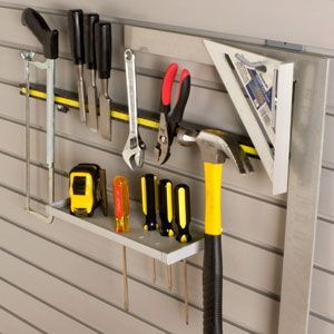 Hand tools should be 'at hand' for quick home repairs. storeWALL gives utility storage a efficient makeover.