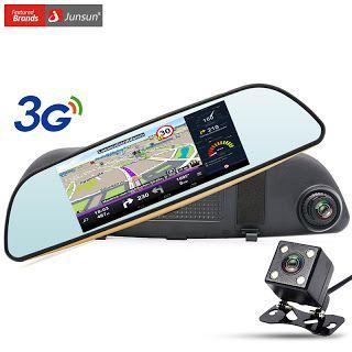 "Junsun 7"" Car GPS Navigation Android 5.0 Rearview Mirror Car DVR Camera 3G WIFI Bluetooth automobile sat nav navigator free maps (32343232107)  SEE MORE  #SuperDeals"