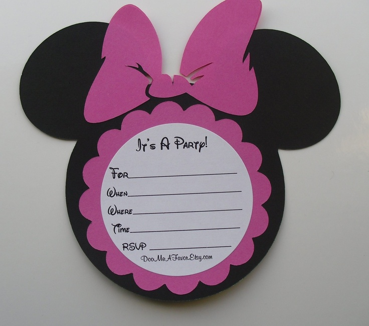 668 best beba images on pinterest | mickey party, minnie mouse, Birthday invitations