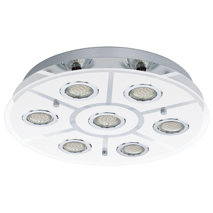 32.000,-  EGLO 93108 mennyezeti 7xGU10 3W LED króm/üveg ker 46cm Cabo / Eglo lámpák /-93108 Cabo - Lámpa Outlet hagyományos és Modern Mennyezeti Lámpák Kedvezményes Áron - Akciós lámpák - Kiemelt lámpa és csillár termékeink.