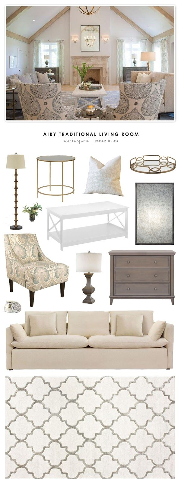 Copy Cat Chic Room Redo Traditional Decortraditional Furnituretraditional Living