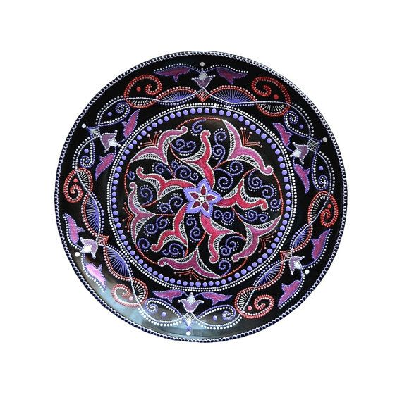 Handpainted decorative plate on wall Gardens of Persia от LekaArt, $75.00