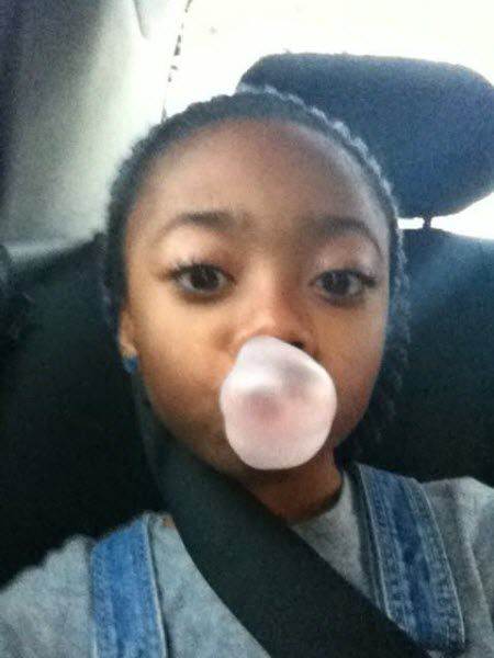 Photo: Skai Jackson Chewing Gum And Blowing A Bubble November 5, 2012
